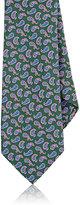 Barneys New York Men's Paisley Silk Necktie-GREEN