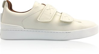 Ermenegildo Zegna White Leather Low-Top Sneakers