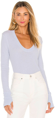 Enza Costa Cashmere Easy Cuffed U Sweater