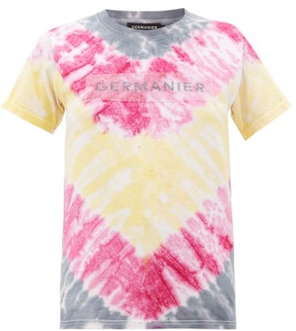 Germanier - Recycled Crystal-logo Tie-dyed Cotton T-shirt - Womens - Multi
