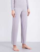 Sunspel Marl-patterned cotton-jersey trousers