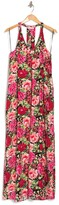 Thumbnail for your product : Love Stitch Printed V-Neck Racerback Maxi Dress