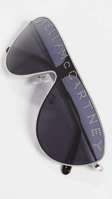 Stella McCartney Stlla Logo Shield Sunglasses