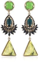 Iosselliani Anubian Brass, Agate & Crystal Earrings