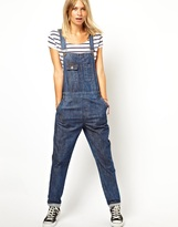 ASOS Denim Overalls in Dark Wash