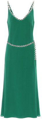 Christopher Kane Embellished silk-blend crepe dress