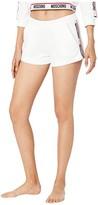Moschino Basic Fleece Shorts (White) Women's Shorts
