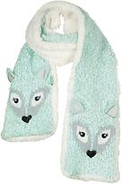 Fat Face Children's Arctic Fox Scarf, Aqua