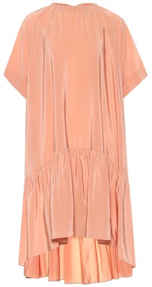 Rochas Draped silk crepe dress