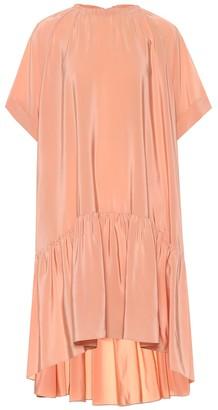 Rochas Draped silk crepe dress
