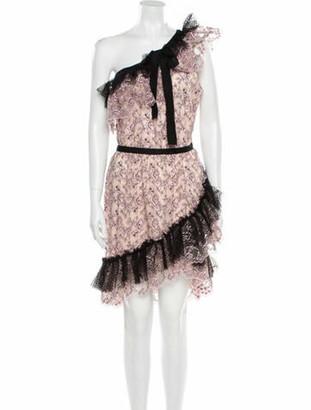 Philosophy di Lorenzo Serafini Lace Pattern Knee-Length Dress w/ Tags Pink