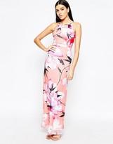 Lipsy Floral Chiffon Maxi Dress