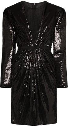 Giambattista Valli sequinned lace underlay mini dress