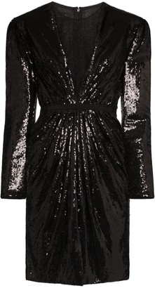 Giambattista Valli Sequinned Lace Underlay Mini Dress
