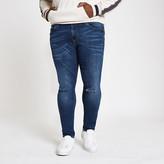 River Island Big and Tall blue Danny super skinny jeans