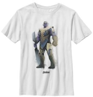Fifth Sun Marvel Big Boys Avengers Endgame Thanos Spray Paint Short Sleeve T-Shirt