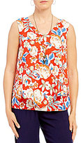 I.N. Studio Sleeveless Poppy Floral Print Top