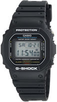 G-Shock G SHOCK Mens Black Resin Strap Sport Watch DW5600E-1V