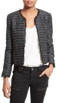 Joie Women's Evren Collarless Boucle Jacket