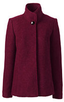 Lands' End Women's Textured Wool Jacket-Red Plum Heather