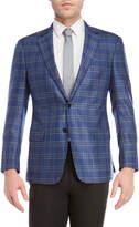 Giorgio Armani Blue Plaid Sport Coat
