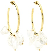 Lizzie Fortunato Keshi gold-plated hoop earrings
