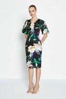 Coast Printed Wrap Scuba Shift Dress
