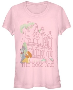 Fifth Sun Women's Lady and the Tramp Cross Stitch Home Short Sleeve T-shirt