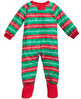 Family Pajamas 1-Pc Striped Footed Pajamas, Baby Boys' or Baby Girls' (12-24 months) & Toddler Boys' or Toddler Girls' (2T-3T) Created for Macy's
