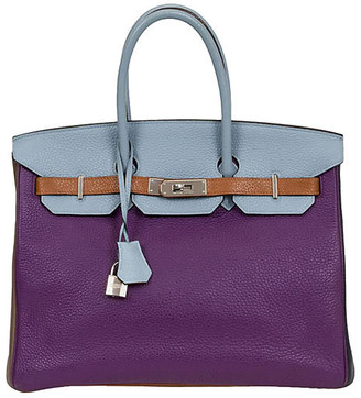One Kings Lane Vintage Hermes 35cm Harlequin Birkin - Vintage Lux - violet/brown/blue/cream/gold