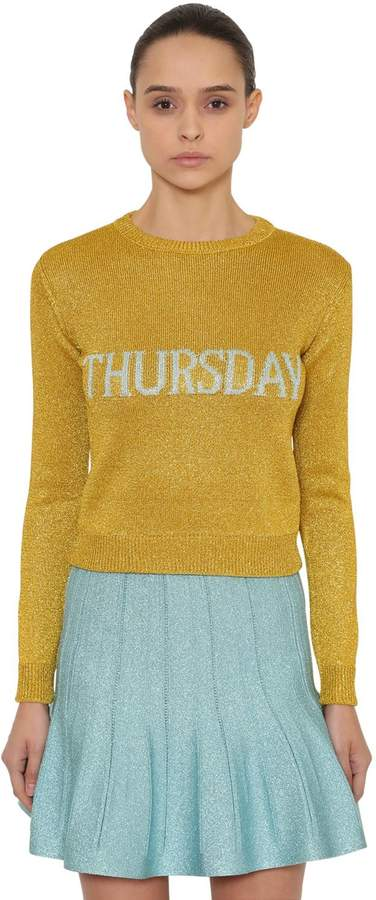 Alberta Ferretti Thursday Lurex Knit Sweater