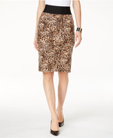 INC International Concepts Petite Printed Pencil Skirt, Only at Macy's
