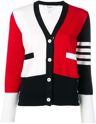 Thom Browne RWB 4-Bar stripe cardigan