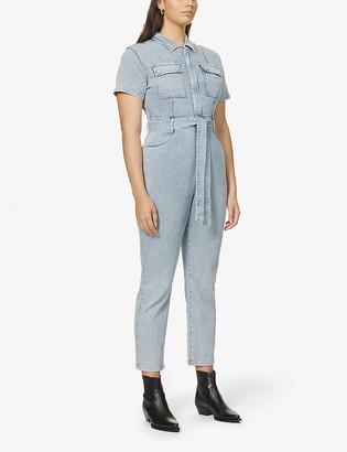 Good American Fit For Success cotton-blend denim jumpsuit