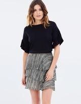 SABA Fringe Tiered Skirt