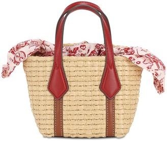 Tory Burch Nano Perry Straw Top Handle Bag