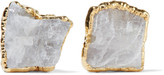 Dara Ettinger Gold-tone stone earrings