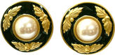 One Kings Lane Vintage Givenchy Classic Cabochon Pearl Earrings