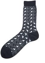 Ayame Men's C53 Ni Flag Socks In Black And Grey