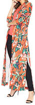 Miss Selfridge Premium Printed Maxi Kimono, Red/Multi