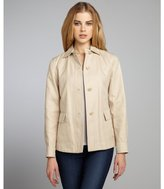 Loro Piana beige cotton twill four button front jacket