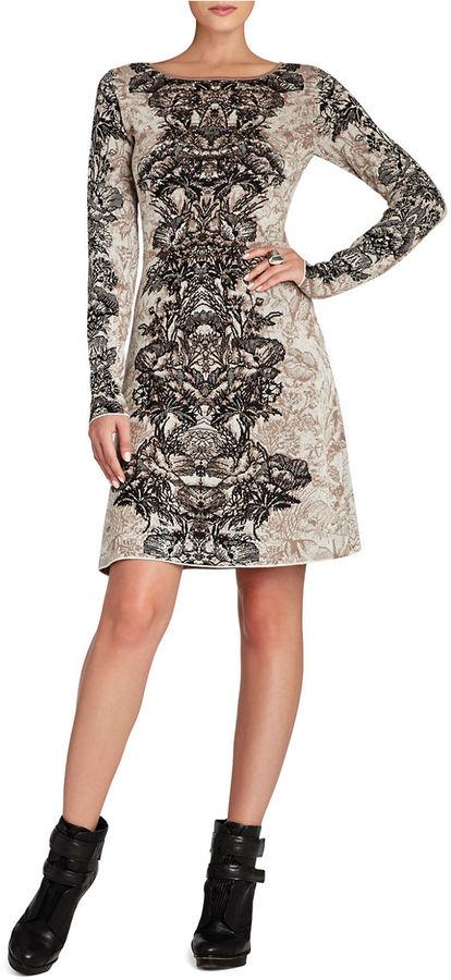 BCBGMAXAZRIA Regan Etched Floral Dress