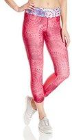 Desigual Women's Knitted Pink Capri Legging