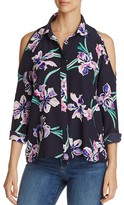 Yumi Kim Cold-Shoulder Floral Print Top