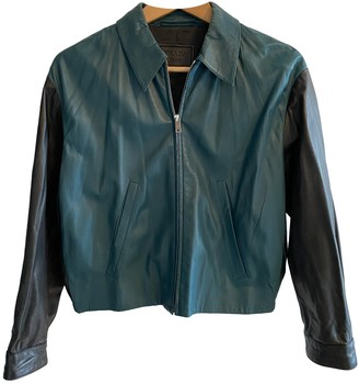 Prada Blue Leather Jackets