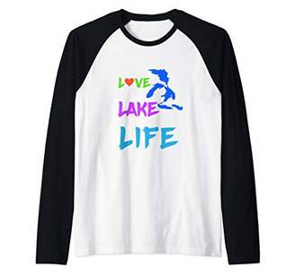 The Great Love Lake Life for Summer Fans Enjoying Lakes Raglan Baseball Tee