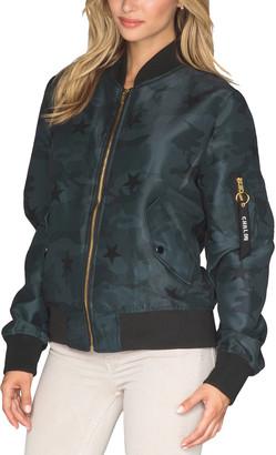 Chrldr Black Camo Stars Flight Jacket