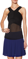Sandro Eclatant Ribbed Contrast Top