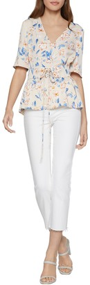 BCBGeneration Floral Corset V-Neck Top