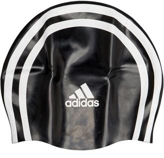 adidas 3 Stripes Silicone Swim Cap Black/White